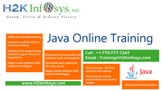 Java Online Training with Certification by H2KInfosys